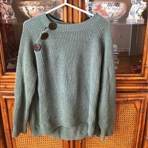 Zara Kids Green 3 Button Oversized Sweater
